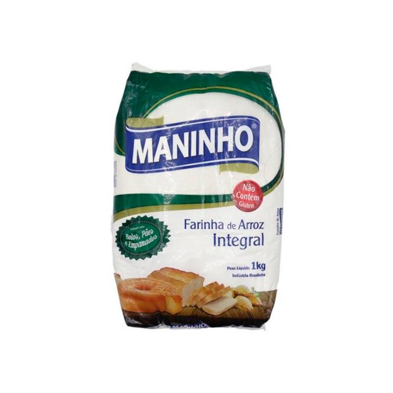Farinha de Arroz Integral Maninho