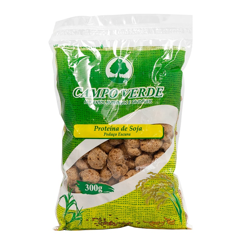 Proteína De Soja Em Pedaço Escura Campo Verde